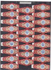 Série complète  Bague de Cigare Vitola Espagne BN115389 Ecussons Amérique