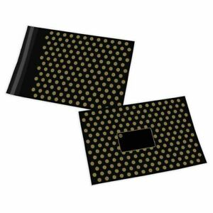"""Black/Gold Polka Dot Mailing Bag - 12 x 16"""", 305MM x 406MM"""