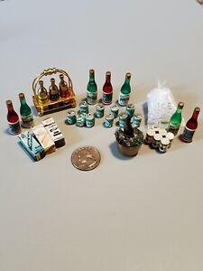 1:12 Dollhouse Bar / Pub Accessories - Beer Wine Ice Bucket Lot