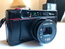 Fuji Tw-300 35mm Point & Shoot Film Camera w/ TeleConverter Lens & Manual & Box