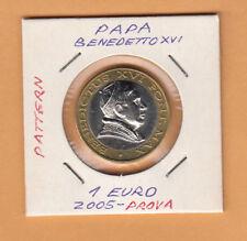 VATICAN VATICANO 1 EURO FDC 2005  PATTERN-ESSAI-PROBE-PROVA-PROTOTYPE-SPECIMEN