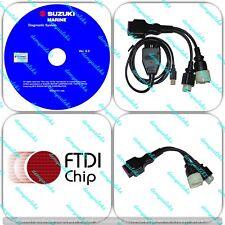 Suzuki Outboard Boat Marine Diagnostic USB Cable Kit SDS 8.0