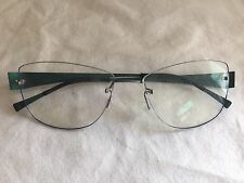 NEW LINDBERG Spirit Titanium T62 Drill Mount Frame 117 Green Rimless Eyeglasses