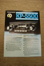 Pioneer KP-5500 Car Stereo  Cassette tape with FM radio  Original Catalogue
