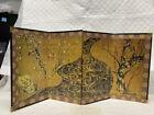 "Japanese 4 Panel Screen Plum Tree Ogata Korin 17th Century 9"" X 19"""