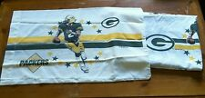 NFL Green BAY Packers Gold Football Twin Flat Sheet Pillowcase Set Craft Cutting