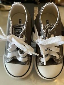 Converse All Star Toddler Low Top Chuck Taylor Shoes~ Charcoal Sz 6 unisex New