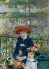Two Sisters, 1881, PIERRE-AUGUSTE RENOIR Impressionism Art Poster