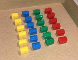 Monopoly Junior Replacement Pieces - 6 of each color house