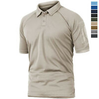 Men's Tactical Polo Shirt Short Sleeve Quick Drying Military Army Combat T Tops