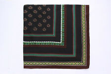 Extra Large Square Viscose Scarf/Shawl Black and Brown COT504