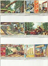 ITALY Liebig trading cards S 1570 F 1568 Woodworking - LA LAVORAZIONE DEL LEGNO
