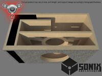 STAGE 2 - PORTED SUBWOOFER MDF ENCLOSURE FOR KICKER CVX10 SUB BOX