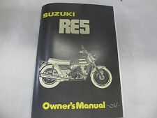 Suzuki RE5 owners manual 1975  RE5 Rotary