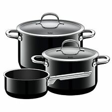 Silit Topf-Set 3-teilig Passion BlackMade in Germany induktionsgeeignet