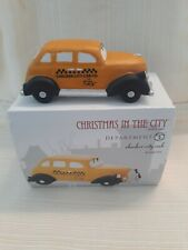 Department 56 Christmas in the City Checker City Cab! Rare! New!
