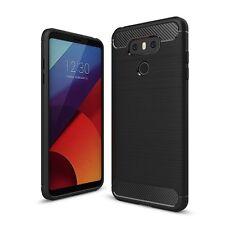 Für LG G6 Handyhülle Gebürstete Case Schutz Cover Tasche Etui  Bumper Schwarz