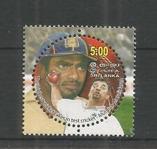 Sri lanka 2007 Muttiah Muralitharan sg, 1925 u/mm nh lot 2946A