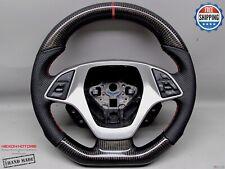 Chevrolet Corvette C7 Z06 Thick Flat bottom 5mm Red Ring Carbon Steering Wheel