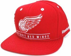 Detroit Red Wings Reebok NF92Z NHL Team Logo Snapback Hockey Cap Hat