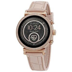 Michael Kors MKT5068 Light Pink-Tone Access Smartwatch Flexible Band New