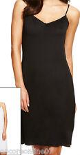 Ladies x Marks and Spencer M&S Cling Resist V Neck Full Slip Under Skirt 10-22