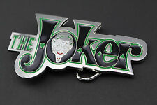 THE JOKER GREEN BLACK METAL BELT BUCKLE DC COMICS MOVIE VS BATMAN