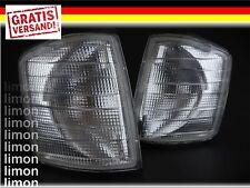 2x FRONTBLINKER SET in WEISS für MERCEDES 190E 190D W201 Limousine Blinker S180