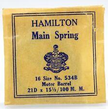 Hamilton 16 Size Mainspring No. 534B Motor Barrel
