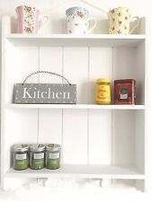 Shabby Chic Wall Unit Kitchen Shelf Cupboard Cabinet Vintage Style White Shelves