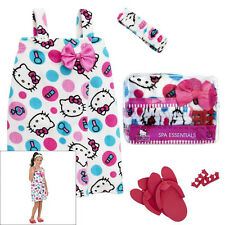 Hello Kitty Dot Spa Wrap Bath Robe Set Gift Set - Size 7/8 NIB