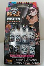 New Mexican Day of the Dead Nails Reusable Halloween Skull Candy Fancy Dress