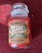 """YANKEE CANDLE LARGE JAR """"VINTAGE BERRIES"""" LIMITED EDITION USA WHITE LABEL 2014"""
