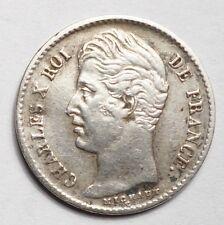 1/4 DE FRANC CHARLES X 1829W LILLE
