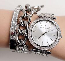 Original Michael Kors Uhr Damenuhr MK3190  Darci Frabe:Silber Kristall NEU