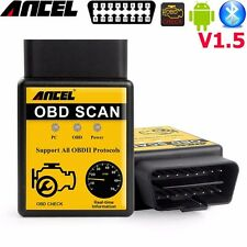 ancel obd2 elm327 v1.5 bluetooth adapter best  diagnostic scanner