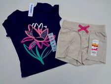 New Old Navy T-shirt & Beans Shorts Girls Toddler Baby Infant Size 2T 2 Floral
