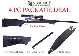 NeoGards - Neoprene Rifle Protectors Black Package Deal - Rifle Covers