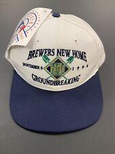 Milwaukee Brewers Miller Park Groundbreaking Collectible Baseball Hat! 11-9-1996