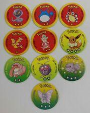 Pokemon Battle Disc LOT 10 Nintendo Vintage Coin Eevee Moltres Slowking Arbok