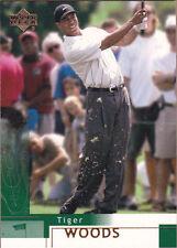 2002 Upper Deck Tiger Woods #1 Golf Card