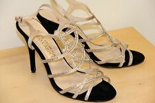 E! RED Carpet E0016 High Heel Dress Pumps Sandals Shoes Sz 10 Nude Satin