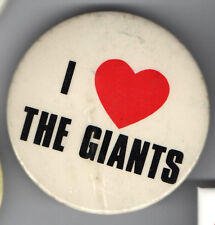 old I LOVE ( HEART ) the GIANTS pin button
