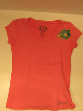 Life is Good Women Small C/S Cotton Scoop neck Fitted Fresh Pink $36.00 NWT 2607