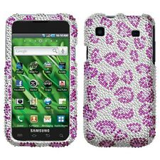 Purple Cheetah Crystal BLING Case Phone Cover Samsung Galaxy S 4G Vibrant T959V