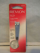 Revlon Compact Finger Nail Clip 32310 w/ Foldaway File Silver Clippers