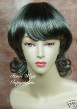 Black with 65% Silver Grey Wig for Elder Ladys/Brilliant Fibre Brilliant Quality