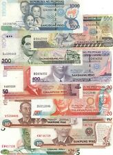 PHILIPPINES Full Set 5 2x10 20 50 100 200 500 1000 Piso (1995-2012) P-142-164