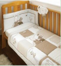 Silver Cloud Country Kisses Mouse And Pip 5 Piece Cot Bedding Set Beige/Cream