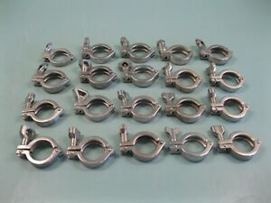"""Lot (20) 1-1/2"""" Sanitary Tri-Clover Type SS Tri-Clamp D19 (2832)"""